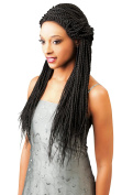 100% Kanekalon Magic Lace Front Wigs Senegal BOX BRAID for Women X-Pression #1 -80cm (1)