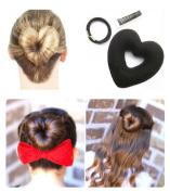 iHome Fusion Hair Donut Heart Shape Hair Donut Hair Bun Maker