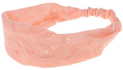 Capelli New York Ladies Paisley Pattern Retro Headwrap Peach One Size