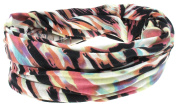 Capelli New York Ladies Tie Dye Multiwear Headwrap Pink Combo One Size