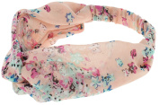 Capelli New York Ladies Floral Chiffon Headwrap Pink Combo One Size
