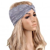 ABC® Women Headwear Twist Sport Yoga Lace Headband Turban Headscarf Wrap