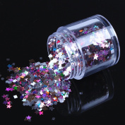 ECBASKET New Arrival Multi Colour Glizty Nail Powder Dust DIY Nail Glitter Slices,Heart/Star/Hexagon/Square