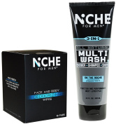 Niche For Men Multi-Wash and Face and Body Deodorising Wipes 10 Pack