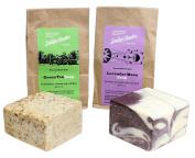 Sallye Ander Bundle of 2 100% Handmade, Hypoallergenic Bar Soap