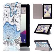 For Amazon Kindle Fire 7 2015,Sunfei Folio Leather Case Cover Stand