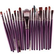 Coper 20 pcs Makeup Brush Set tools Make-up Toiletry Kit Wool Make Up Brush Set