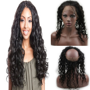Dreambeauty Loose Wave 360 Full Lace Frontal Closure Brazilian Virgin Remy Human Hair 360 Lace Band Frontal with Baby Hair Natural Hairline Bleached Knots Lace Frontal for Black Women