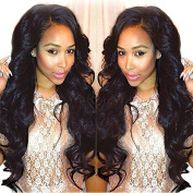 N.L.W.2017 NEW Brazilian virgin hair Body wave Glueless full lace wigs for black women Natural colour soft natural human hair wigs