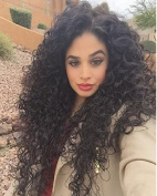 Prime Kitty 150% Density Lace Front Wig Loose Curly Human Hair Wigs 60cm Natural Colour