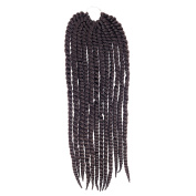 Anleolife 1PCS Black Women Wigs 60cm 12 Braids Hair Extension 2X Twist Braid Hairpieces Synthetic Hairstyle Cosplay Costume Wig For Birthday Gift Natural Colour