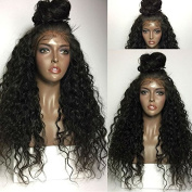 Foxys' Hair Unprocessed Curly Virgin Brazilian Lace Front Human Hair Wigs Loose Wave Haman Hair Wigs with Baby Hair Free Part