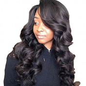 PlatinumHair Glueless Synthetic None Lace Wigs New  .   Black Body Wave Heavy Density Synthetic Wigs 50cm - 60cm