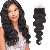 OrderWigsOnline Body Wave 4×10cm Lace Closures Natural Black Top Closures 36cm 100% Brazilian Human Hair Knots Bleached With Baby Hair For Black Women