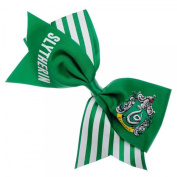 Harry Potter Slytherin Cheer Crest Green and White Bow