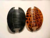 2 set Interlocking Banana Combs Hair Clip French Side Comb Holder