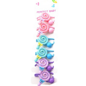 6Pcs Colourful Lollipop Hair Rope Baby Toddler Cute Hair Holder