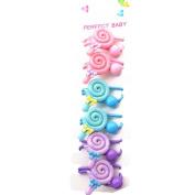6Pcs Colourful Lollipop Hair Rope Baby Toddler Cute Hair Holder