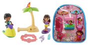 Dora the Explorer Hair Accessories in Mini Back Pack and Beachtime Friends Dora and Pablo Playset Bundle of 2 Items