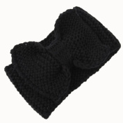 Hunputa 2016 Fashion Women Winter Crochet Headband Bow Knit Headwrap Ear Warmer
