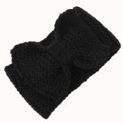 Hunputa 2016 Fashion Women Winter Crochet Headband Bow Knit Headwrap Ear Warmer