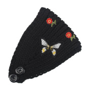 Hunputa Fashion women's knit Winter Butterfly Headband Ear Warmer