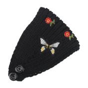 Hunputa Fashion women's knit Winter Butterfly Headband Ear Warmer