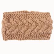 Hunputa Women Knitted Headbands Winter Warm Head Wrap Wide Warmer Hairband Hair Accessories