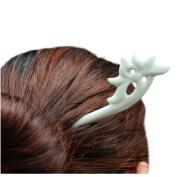 Retro Jingdezhen Porcelain Ceramic Hair Stick Accessories Handmade Hair Pins Chinese Lotus Flower Hairpin