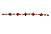 """Pink Pewter Authentic """"Emerson"""" Red/Black Detachable Stretchband & Choker"""