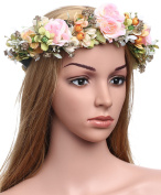 Babeyond Nature Vintage Berries Flower Crown with Adjustable Ribbons for Wedding Festivals Art Deco