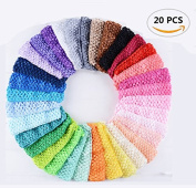 20PCS Fireboomoon Baby Girl Headbands Elastic Crochet Hair Bands Hair Accessories,Boutique Girls Stretch Headbands.