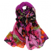 Datework Women Long Soft Wrap Shawl Multi-coloured Voile Scarf