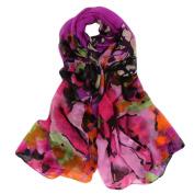 Datework Women Long Soft Wrap Shawl Multi-coloured Voile Scarf