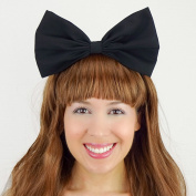 Black Alice in Wonderland Bow Inspired Headband Handmade Hair Accessory by Sweet in the City