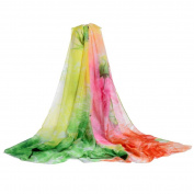 Datework Women Long Soft Multi-coloured Shawl Scarf