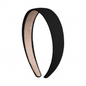 2.5cm Wide Suede Like Headband Solid Hair band for Women and Girls - Black