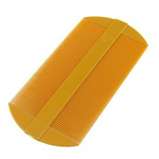 Fine Amber Tooth Portable Two Side Plastic Hair Comb 2 Pcs Best for Travel
