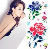 Sexy Body Art Flower Tattoos Women Party Temporary Tattoo Sticker
