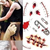 temporary tattoo bullet holes gunshots horror scary halloween for Halloween