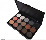 Terrece 15 Colours Professional Eye Shadow Earth Matte Pigment Eyeshadow Set Dust Powder Makeup Cosmetic Palette Kit