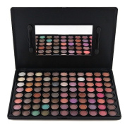 Terrece 88 Colours Private Label Eye Shadow Warm Colour Palette Series Makeup Kit Eyeshade Multicolor Professional Box Natural Smokey Classic Eyeshadow Set with Mirror And Brush Wands