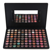 Terrece 88 Colours Eye Shadow Warm Colour Palette Series Makeup Kit Eyeshade Multicolor Professional Box Natural Smokey Classic Eyeshadow Set with Mirror And Brush Wands