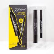 CLIO Tinted Tattoo Kill Brow Master Set (Tattoo Pen + Brow Mascara + Tinted Tattoo Brush liner) #3 Dark Brown