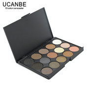 UCANBE Fashion 15 Earth Colour Matte Pigment Glitter Eyeshadow Palette