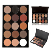 15 Colour Eyeshadow Palette, Bold and Bright Collection, Vivid, KRABICE Eyeshadow Eye Shadow Palette Makeup Kit Set(15 Eyeshadow Palette) #5