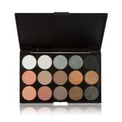 HAPPYTIME Lifestyles Professional 15 Colours Warm Nude Matte Smokey Eyeshadow Eye Shadow Palette Makeup Kit Set Make Up Professional Box