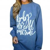 Women Sweater,Neartime Long Sleeve Sweatshirt Baby It's Cold Outside Letter Print