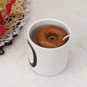 Air Humidifier Gotd Home Office Mini USB Donuts Humidifier Floats On The Water Air Fresher, Brown