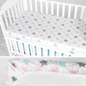 AINAAN 100% Cotton Crib Fitted Sheet Soft Baby Bed Mattress Cover Protector Cartoon Newborn Bedding For Cot Size 13070cm